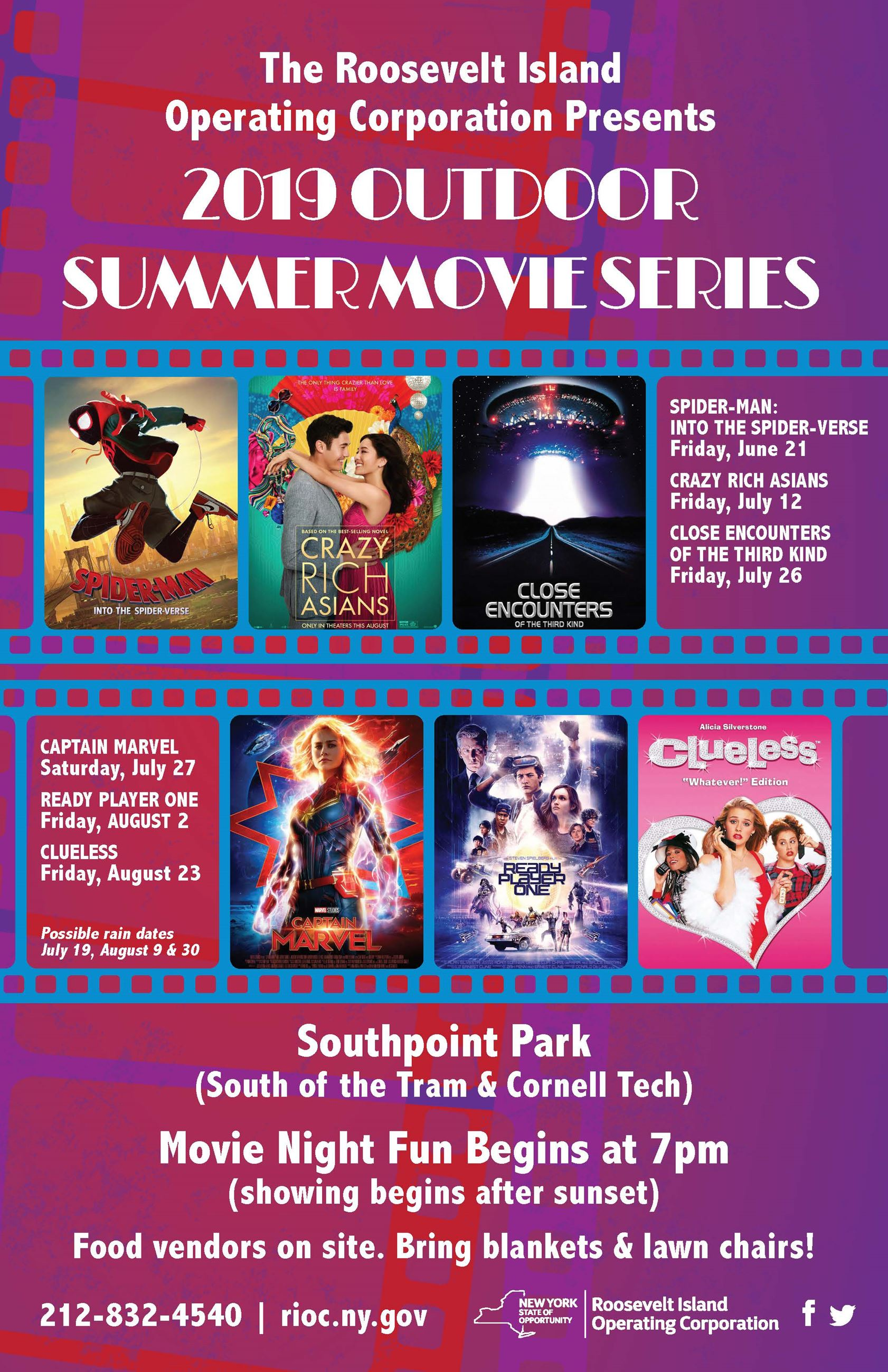 2019 Summer Movie Series Poster