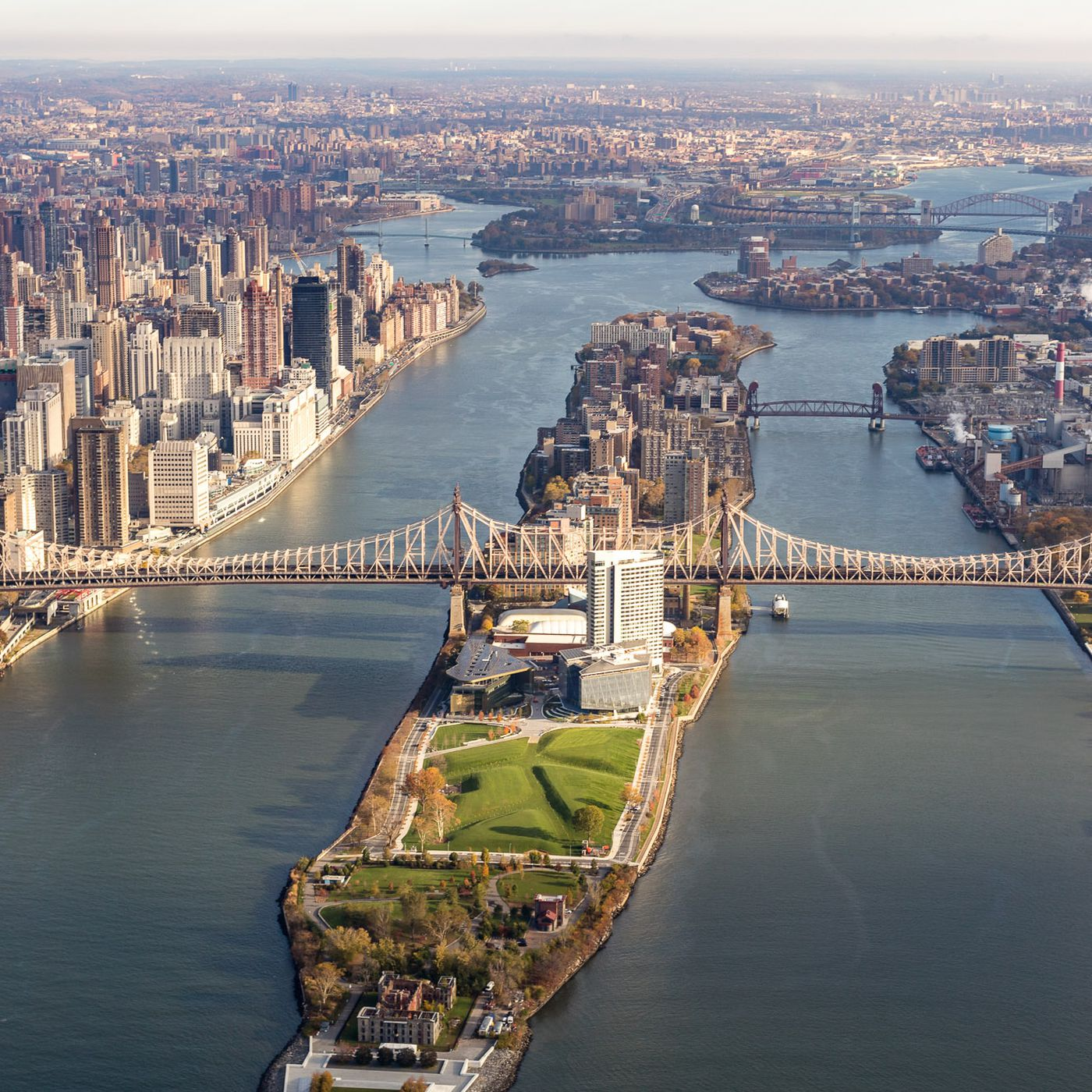 Aerial View of Roosevelt Island 2020