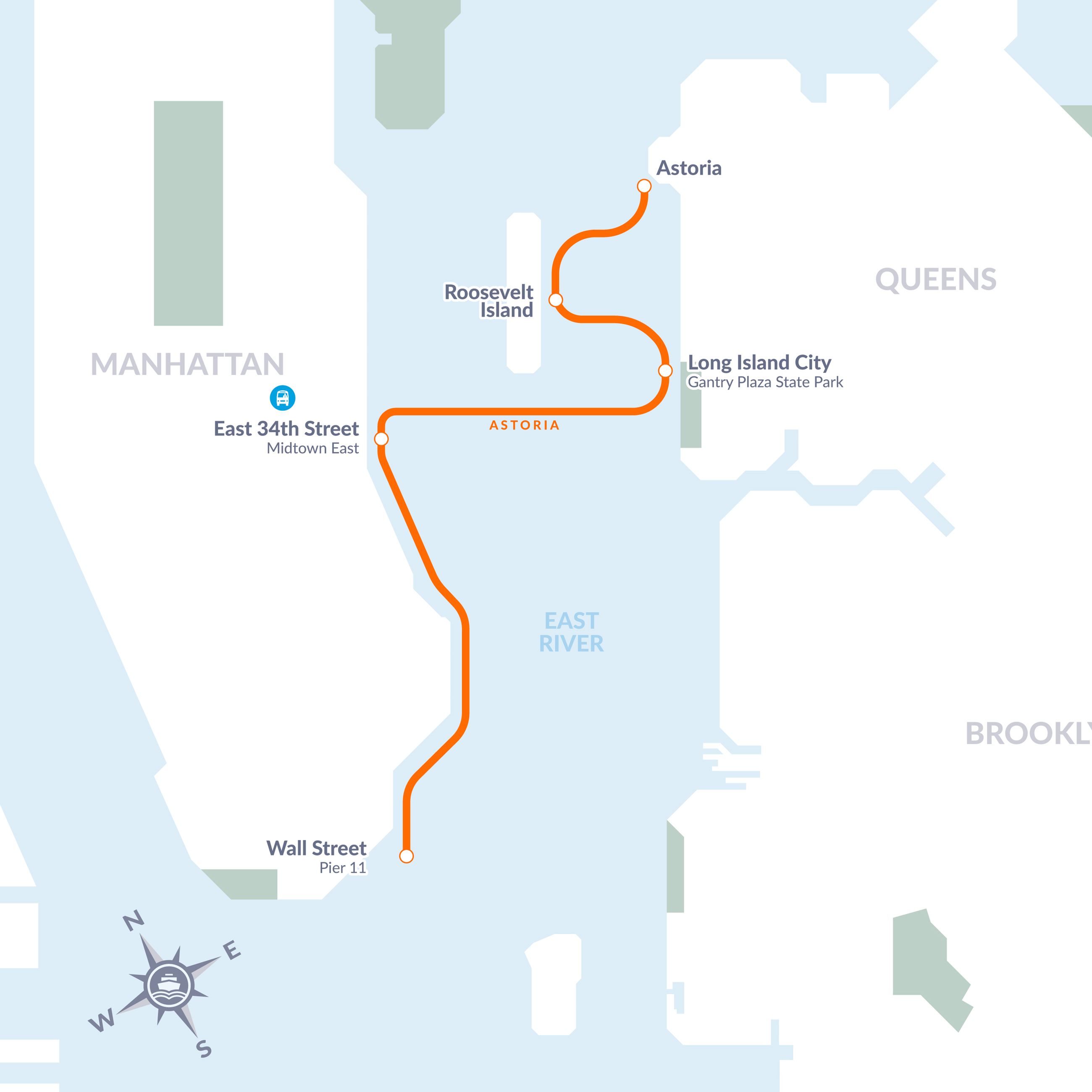 Astoria Nyc Map.Ferry Roosevelt Island Operating Corporation Of The State Of New York